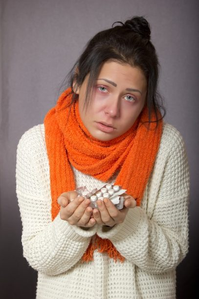 woman with poor immune system